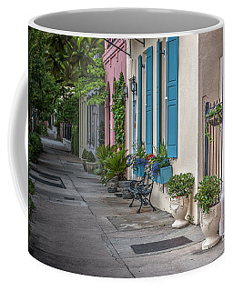Strolling Down Rainbow Row Coffee Mug