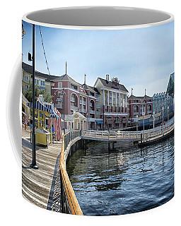 Strolling On The Boardwalk At Disney World Coffee Mug