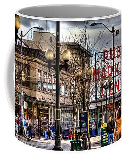 Strolling Towards The Market - Seattle Washington Coffee Mug