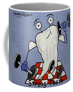 Coffee Mug featuring the painting Strong Teeth by Anthony Falbo