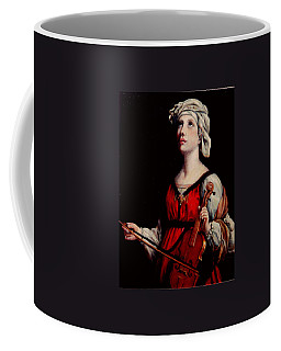 Study Of St. Cecelia Coffee Mug by Donna Tucker