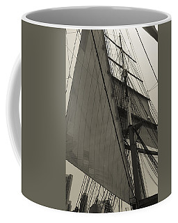 Suare And Triangle Black And White Sepia Coffee Mug
