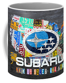 Subaru License Plate Map Sales Celebration Limited Edition 2013 Art Coffee Mug