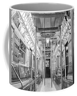 Coffee Mug featuring the photograph New York City - Subway Car by Dave Beckerman