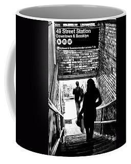 Subway Shadows Coffee Mug by Karol Livote
