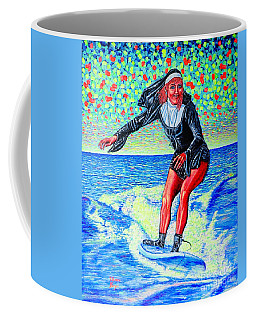 Surfing Nun /god-is Love ...love-is Life/ Coffee Mug