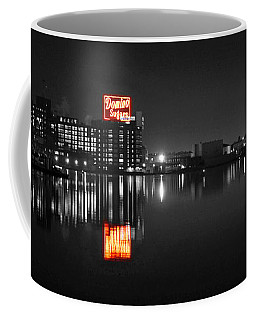 Sugar Glow - Classic Iconic Domino Sugars Neon Sign, Inner Harbor Baltimore, Maryland - Color Splash Coffee Mug