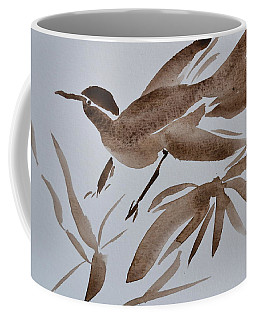 Sumi Bird Coffee Mug by Beverley Harper Tinsley