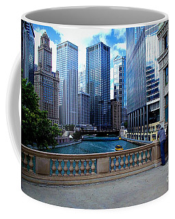 Summer Breeze On The Chicago River - Color Coffee Mug