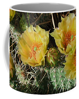Summer Cactus Blooms Coffee Mug by Kae Cheatham