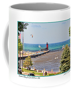 Summer Day At South Haven Mi Coffee Mug