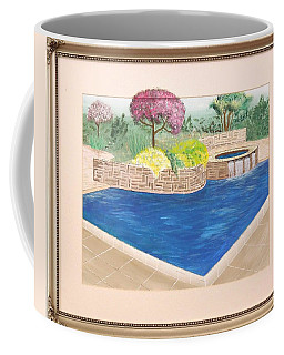 Coffee Mug featuring the painting Summer Days by Ron Davidson