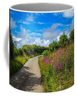 Summer Flowers On Irish Country Road Coffee Mug