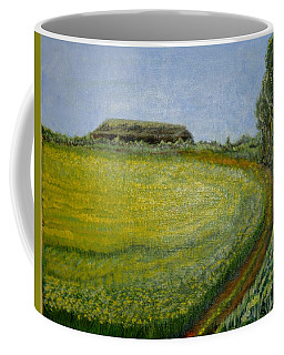Coffee Mug featuring the painting Summer In Canola Field by Felicia Tica