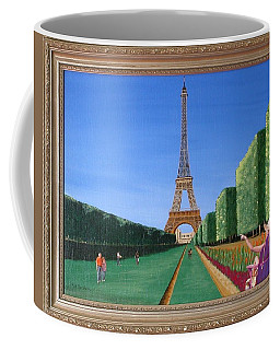 Coffee Mug featuring the painting Summer In Paris by Ron Davidson