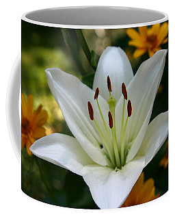 Coffee Mug featuring the photograph Summer Lily by Denyse Duhaime