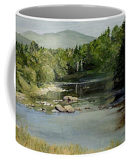 Summer On The River In Vermont Coffee Mug