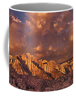 Coffee Mug featuring the photograph Summer Storm Clouds Over The Eastern Sierras California by Dave Welling