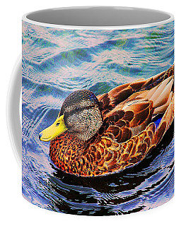 Coffee Mug featuring the photograph Summer Swim by Denyse Duhaime