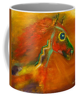 Coffee Mug featuring the painting Sun Dance by Barbie Batson
