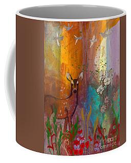 Sun Deer Coffee Mug by Robin Maria Pedrero