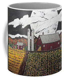 Sun Flower Farm Coffee Mug by Jeffrey Koss