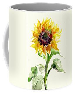 Sunflower Watercolor Coffee Mug