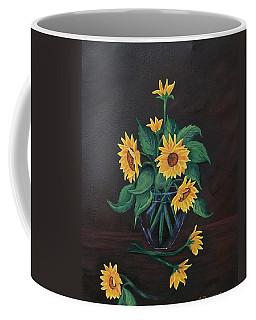 Coffee Mug featuring the painting Sun Flowers  by Sharon Duguay