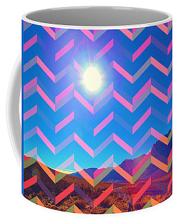 Coffee Mug featuring the mixed media Sun God by Michelle Dallocchio