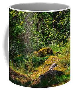 Coffee Mug featuring the photograph Sun In The Forest by Leif Sohlman
