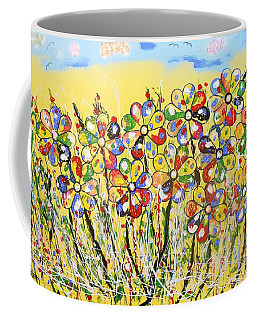 Sun-kissed Flower Garden Coffee Mug