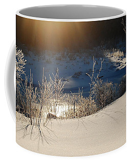 Coffee Mug featuring the photograph Sun On Snow by Mim White