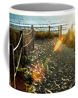 Sun Ray Beach Path Coffee Mug