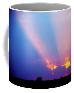 Sun Rays At Sunset Coffee Mug