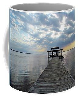 Coffee Mug featuring the photograph Sun Rays On The Lake by Cynthia Guinn