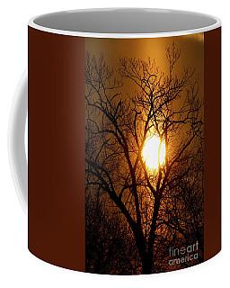 Sun Rise Sun Pillar Silhouette Coffee Mug