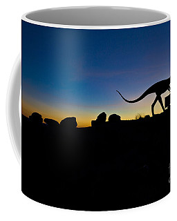 Sun Set Dinosaurs Coffee Mug by Gary Warnimont