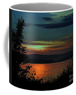 Sun Sets On Winnisquam Coffee Mug by Mim White