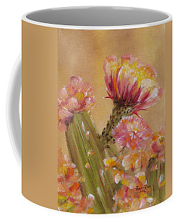 Coffee Mug featuring the painting Sun Worshipper by Judith Rhue