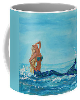 Sunbathing Mermaid Coffee Mug