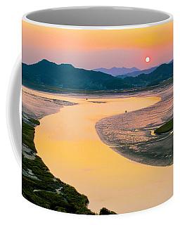 Suncheon Bay Sunset Coffee Mug