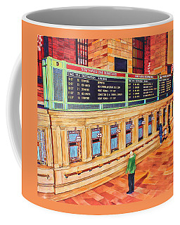 Coffee Mug featuring the painting Sunday Am At Grand Central by Deborah Boyd