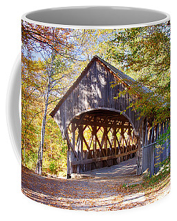 Coffee Mug featuring the photograph Sunday River Covered Bridge by Jeff Folger