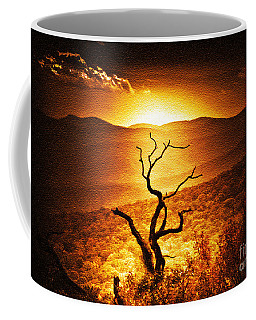 Sundown In The Mountains Coffee Mug by Lydia Holly