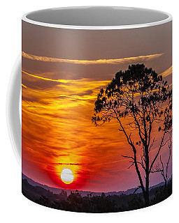 Sundown With Tree Coffee Mug
