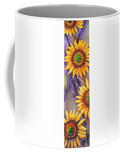 Coffee Mug featuring the painting Sunflower Abstract  by Chrisann Ellis