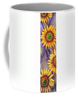 Sunflower Abstract  Coffee Mug by Chrisann Ellis