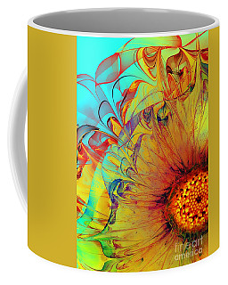 Sunflower Abstract Coffee Mug by Klara Acel