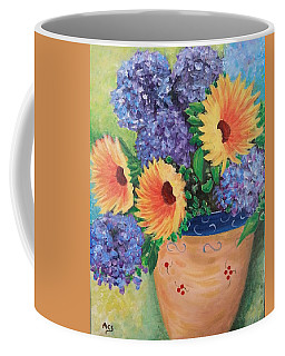 Coffee Mug featuring the painting Sunflower by Amelie Simmons