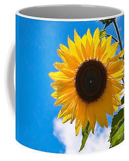 Sunflower And Bee At Work Coffee Mug
